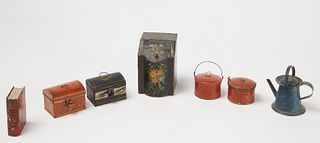 Antique Painted Tin Lot