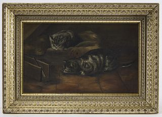Folk Painting of Kittens