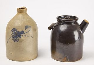 Two New Haven Stoneware Pieces