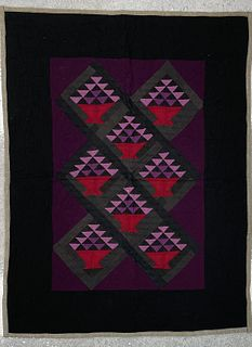 Two Amish Crib Quilts