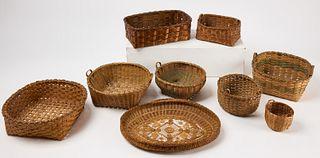 Good Lot of Nine Baskets