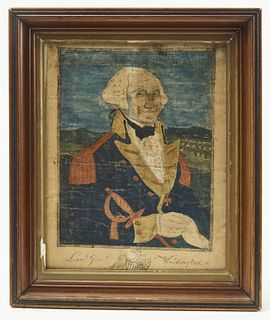 Early General George Washington Colored Engraving