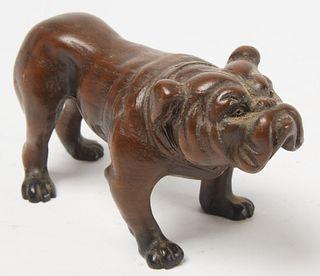 Carved Bulldog