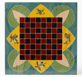 Folk Art Slate Checkerboard