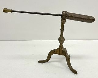 Antique Brass and Iron Goffering Iron