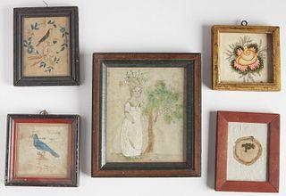 Five Schoolgirl Artworks