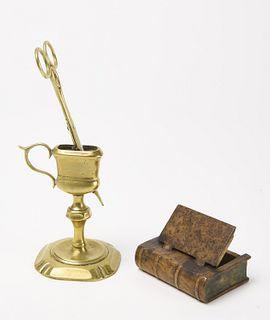 Lignum Vitae Rumlette -Flask - Burl Book Box