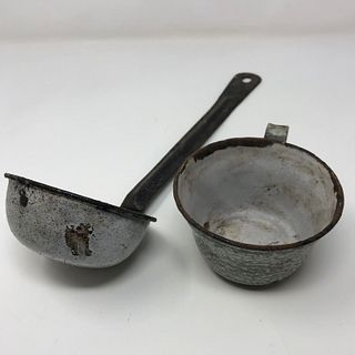 VINTAGE ladle AND  drinking cup SET (2) pieces