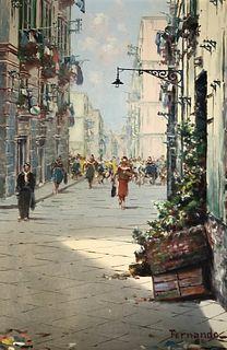 Signed Mid-century FERNANDO oil painting
