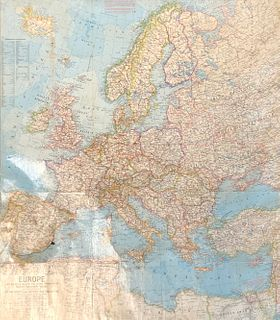 MAP/ Melvin M. Payne European Map Compiled and drawn