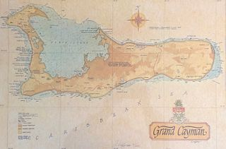 Grand Cayman MAP/ Signed J Longacre and numbered 6/250