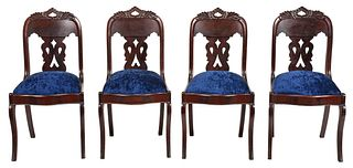 Four Thomas Day Attributed Classical Side Chairs