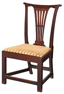 Virginia Chippendale Walnut Side Chair