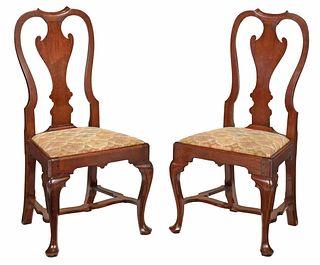 Fine Pair Philadelphia Queen Anne Side Chairs