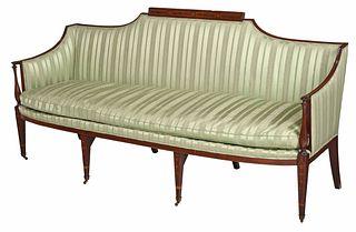 Fine Rare Southern Inlaid Mahogany Sofa