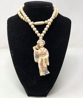Chinese Bone Necklace
