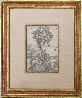 "Dürer ""The Elevation of Mary Magdalene"" Woodcut"