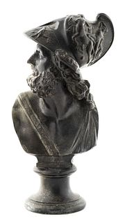 Grand Tour Style Bronze Bust of Ajax