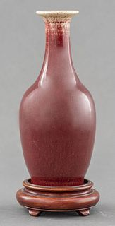 Chinese Sang de Boeuf Porcelain Vase