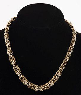 ASTUR 14K Gold Graduated Byzantine Chain Necklace