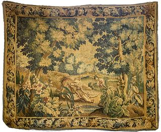 Continental Verdure Landscape Hunting Tapestry