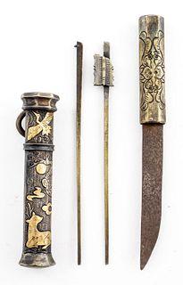 Fine And Rare Korean Nobel Eunjang Do Dagger