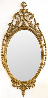 English Georgian Adam Carved Giltwood Mirror