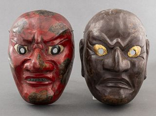 Japanese Lacquered Theater Masks, 2