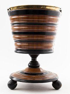 English Victorian Parcel Ebonized Peat Bucket