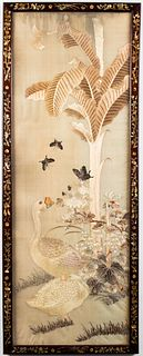 Chinese Silk Embroidery in Abalone Inset Frame