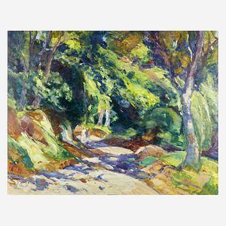 Gaston Sébire (French, 1920-2001) La promenade