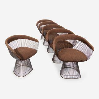 Warren Platner (American, 1919-2006) Set of Six Dining Chairs, Knoll International, 1978