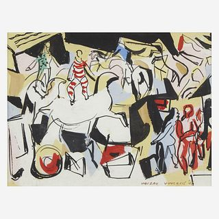 Vaclav Vytlacil (American, 1892-1984) Circus Scene