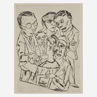 Max Beckmann (German, 1884-1950) The Draftsman in Society (Der Zeichner in Gesellschaft)