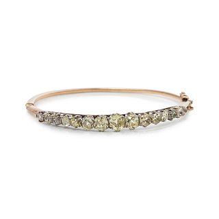 ANTIQUE, DIAMOND BANGLE BRACELET