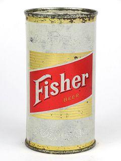 1960 Fisher Beer 11oz Flat Top 63-39