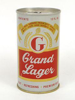 1965 Grand Lager Beer 12oz Tab Top T71-03