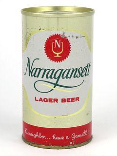 1967 Narragansett Lager Beer 12oz Tab Top T96-02V