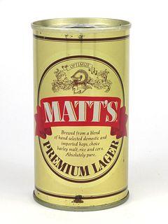 1976 Matt's Premium Lager Beer 12oz Tab Top T92-06