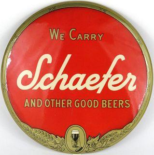 1950 Schaefer Beer  Button Sign