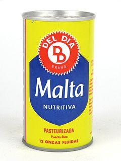 1968 Del Dia Malta 12oz Tab Top T58-28