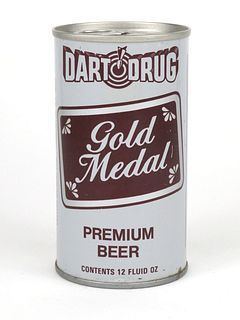 1965 Dart Drug Gold Medal Beer 12oz Tab Top TT58-13