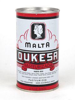1969 Malta Dukesa 12oz Tab Top T60-27