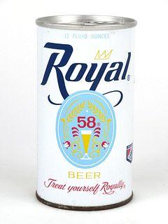 Rare 1966 Royal 58 Beer 12oz Tab Top T116-25