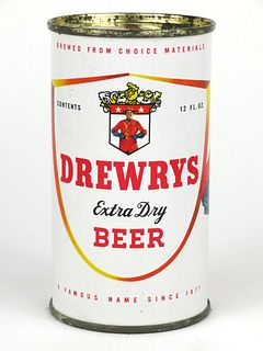 1957 Drewrys Extra Dry Beer 12oz Flat Top 57-04