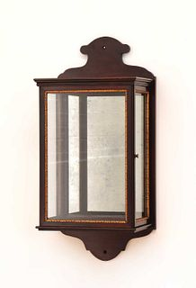 A George II-style mahogany and parcel-gilt wall lantern,