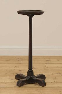 An oak candle stand,