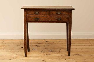 A burr elm side table,