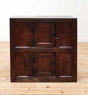 An oak cupboard,
