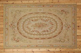 A flatweave Aubusson design rug